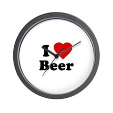 I Love [Heart] Beer Wall Clock