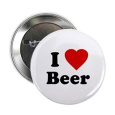 I Love [Heart] Beer Button