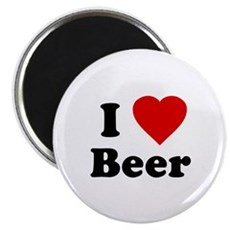 I Love [Heart] Beer Magnet
