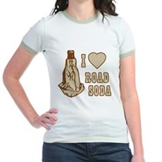 I Love Road Soda Jr Ringer T-Shirt