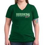 Birding Slut Women's V-Neck Dark T-Shirt