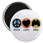Peace Love Bird Magnet