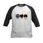 Peace Love Bird Kids Baseball Jersey