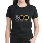 Peace Love Bird Women's Dark T-Shirt