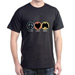 Peace Love Bird Dark T-Shirt