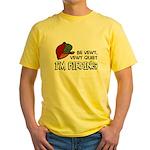 Be Vewy Quiet I'm Birding Yellow T-Shirt