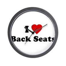 I Love [Heart] Back Seats Wall Clock