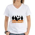 Birdspotting Women's V-Neck T-Shirt