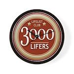 Lifelist Club - 3000 Wall Clock