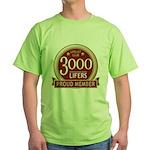 Lifelist Club - 3000 Green T-Shirt