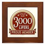 Lifelist Club - 3000 Framed Tile