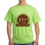 Lifelist Club - 1000 Green T-Shirt