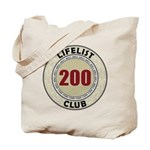 Lifelist Club - 200 Tote Bag