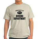 Property of Birding Department Light T-Shirt