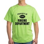 Property of Ringing Department Green T-Shirt