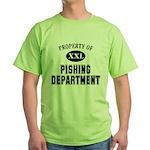 Property of Pishing Dept Green T-Shirt