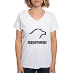 Absolut Birder Women's V-Neck T-Shirt