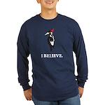 Simple IBWO: I Believe Long Sleeve Dark T-Shirt