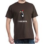 Simple Ivory-billed: I Believe Dark T-Shirt