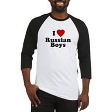 I Love Russian Boys Baseball Jersey