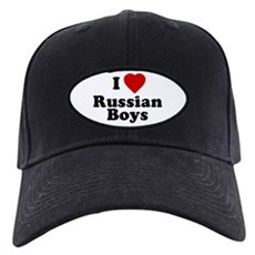 I Love Russian Boys Black Cap