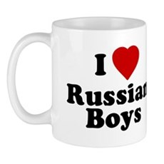 I Love Russian Boys Mug