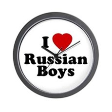 I Love Russian Boys Wall Clock