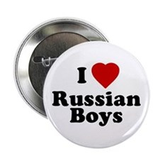I Love Russian Boys Button