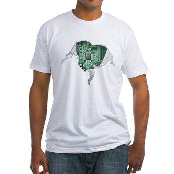 Motherboard Heart Fitted T-Shirt | Gifts For A Geek | Geek T-Shirts
