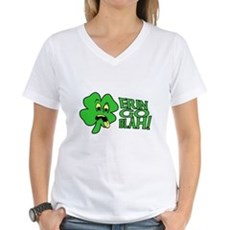 Erin Go Blah! Womens V-Neck T-Shirt