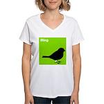 iRing (green) Women's V-Neck T-Shirt