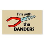 I'm with the Banders Rectangle Sticker