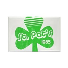 Retro St. Pat's Rectangle Magnet