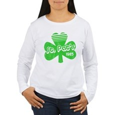 Retro St. Pat's Womens Long Sleeve T-Shirt