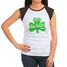 Retro St. Pat's Womens Cap Sleeve T-Shirt