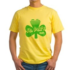 Retro St. Pat's Yellow T-Shirt