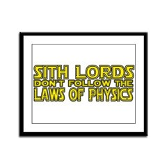 Sith Lords and Physics Framed Panel Print