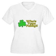 Who's Your Paddy? Plus Size V-Neck Shirt
