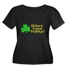 Who's Your Paddy? Womens Plus Size Scoop Neck Dar