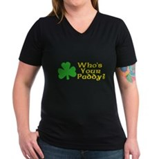 Who's Your Paddy? Womens V-Neck T-Shirt