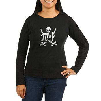 PI rate Women's Long Sleeve Dark T-Shirt | Gifts For A Geek | Geek T-Shirts