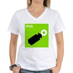 iPish (green) Women's V-Neck T-Shirt