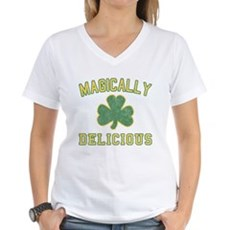 Magically Delicious Womens V-Neck T-Shirt