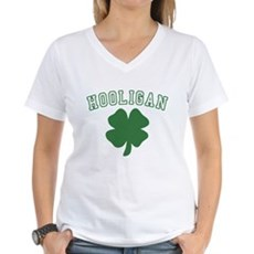 Irish Hooligan Womens V-Neck T-Shirt