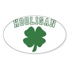 Irish Hooligan Oval Sticker
