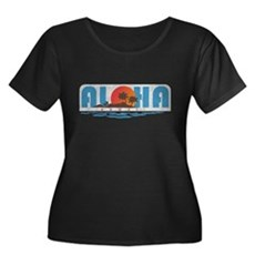 Vintage Aloha Hawaii Womens Plus Size Scoop Neck