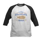 Yummy Fish Biscuits Kids Baseball Jersey