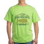 Yummy Fish Biscuits Green T-Shirt