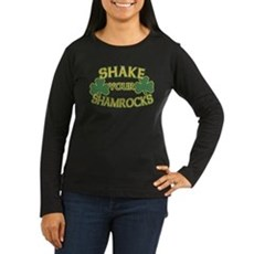 Shake Your Shamrocks Womens Long Sleeve Dark T-Sh