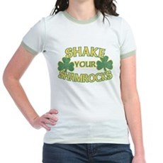 Shake Your Shamrocks Jr Ringer T-Shirt